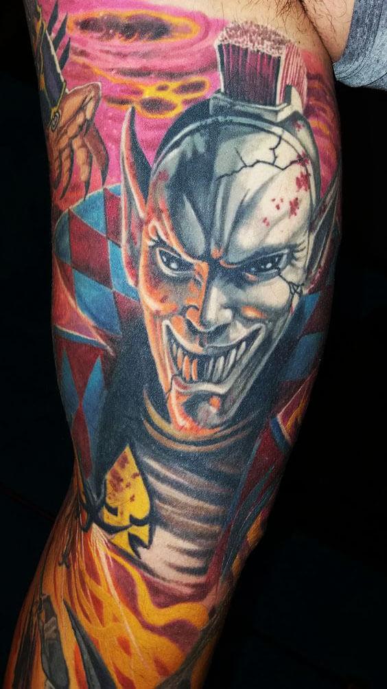 100. Warhammer 40000 Eldar Harlequin tetoválás