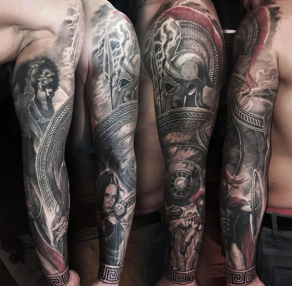 94. Sparta 300 görög harcos egész kéz tetoválás